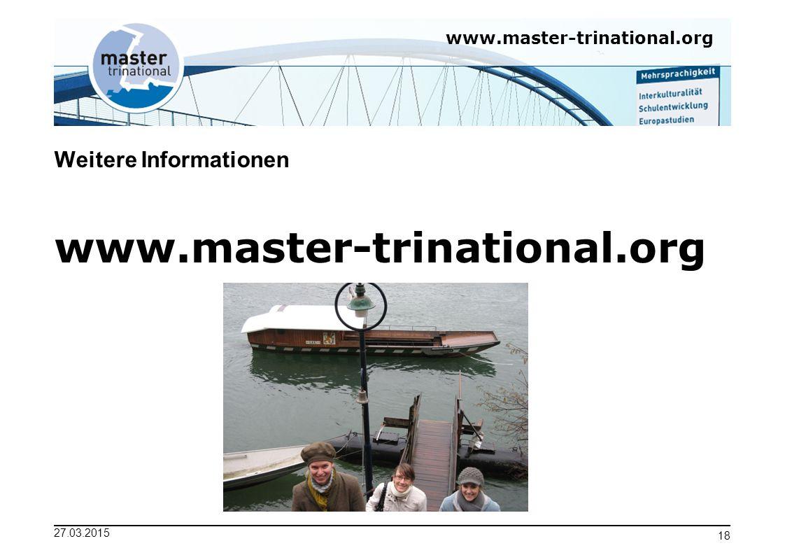 Weitere Informationen www.master-trinational.org