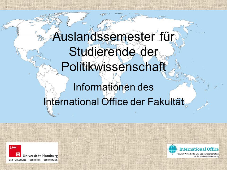 Auslandssemester für Studierende der Politikwissenschaft