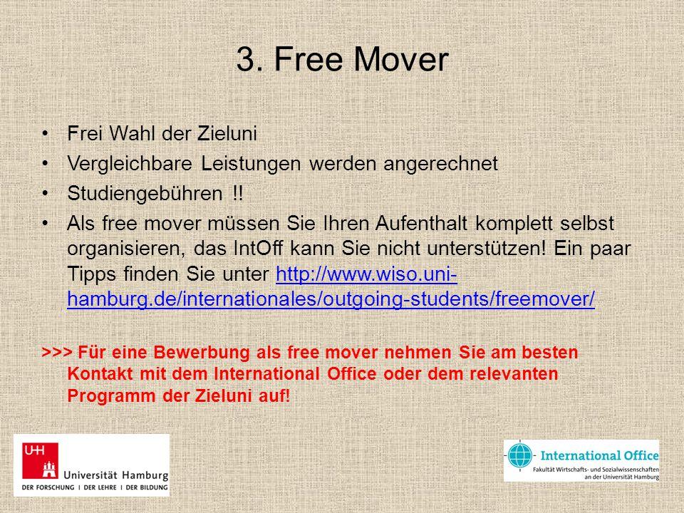3. Free Mover Frei Wahl der Zieluni
