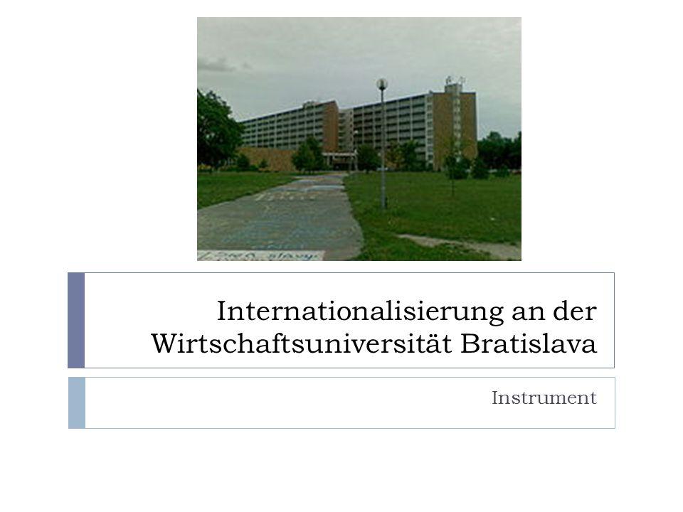 Internationalisierung an der Wirtschaftsuniversität Bratislava