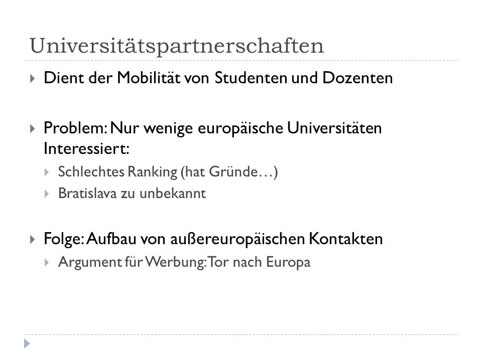 Universitätspartnerschaften