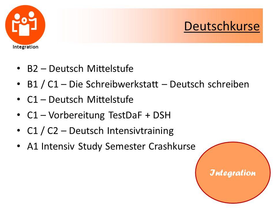Deutschkurse B2 – Deutsch Mittelstufe