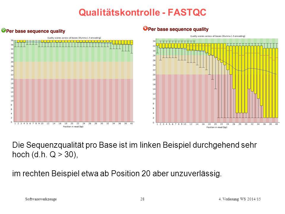 Qualitätskontrolle - FASTQC