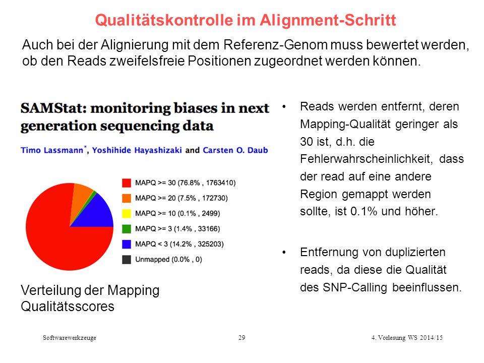 Qualitätskontrolle im Alignment-Schritt