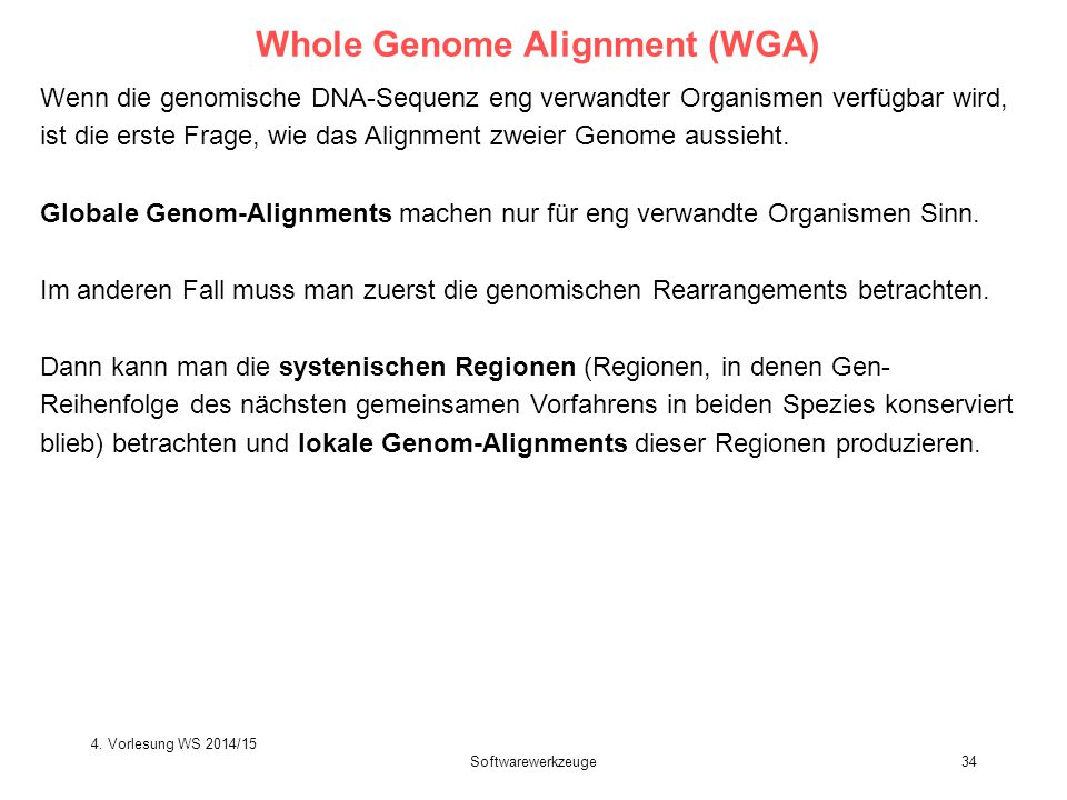 Whole Genome Alignment (WGA)