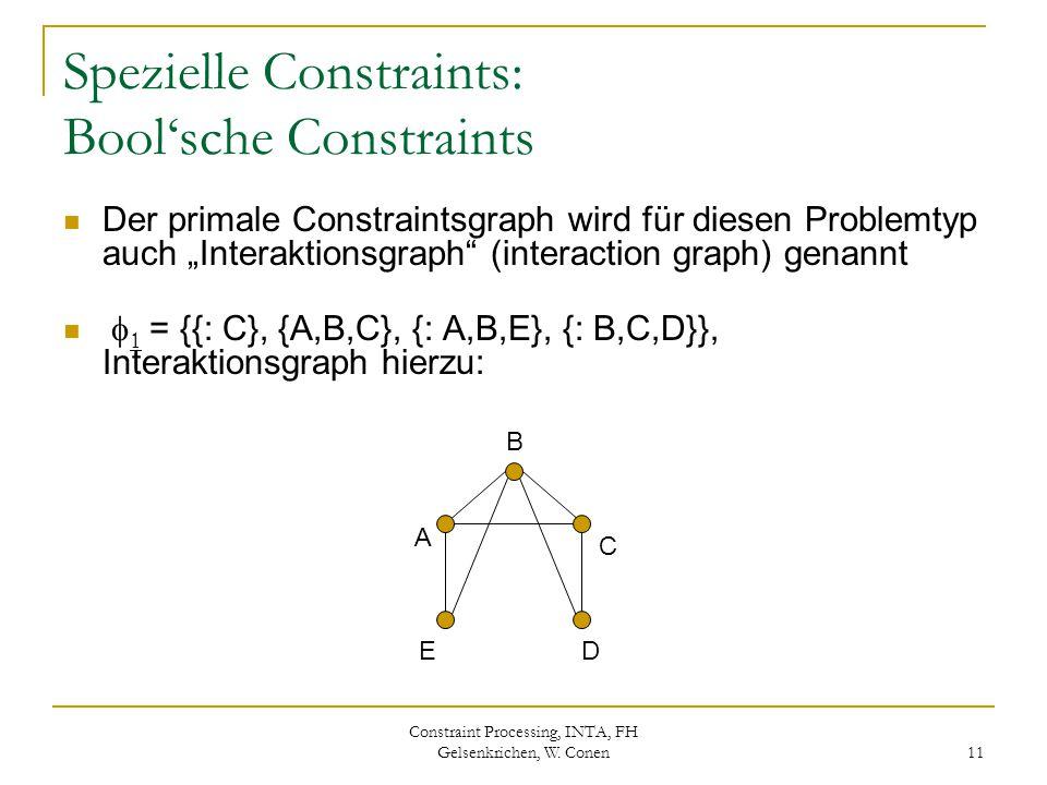 Spezielle Constraints: Bool'sche Constraints