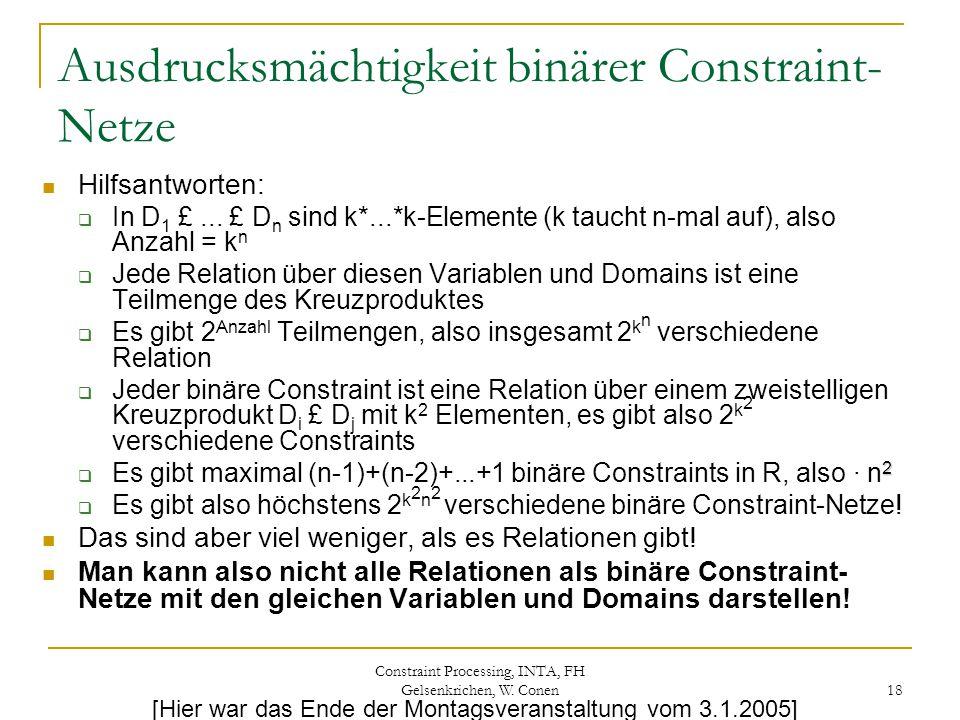 Ausdrucksmächtigkeit binärer Constraint-Netze