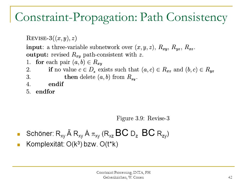 Constraint-Propagation: Path Consistency