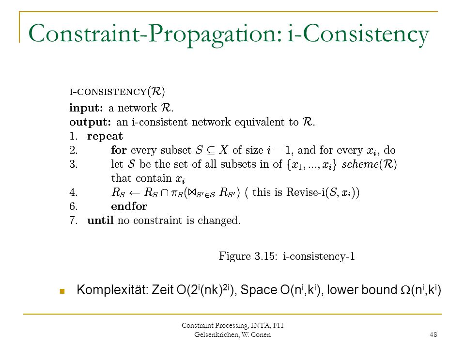 Constraint-Propagation: i-Consistency