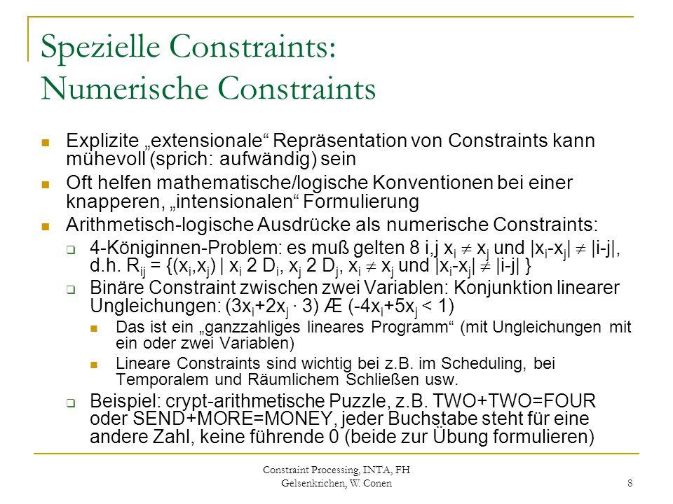 Spezielle Constraints: Numerische Constraints