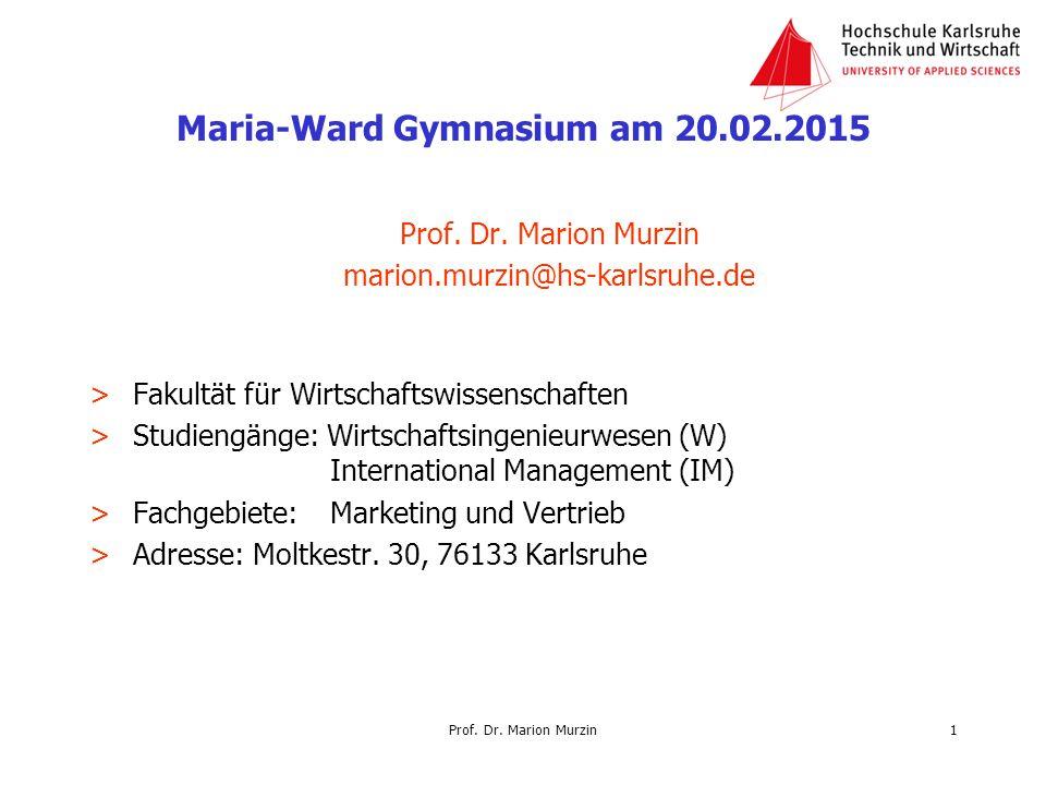 Maria-Ward Gymnasium am 20.02.2015