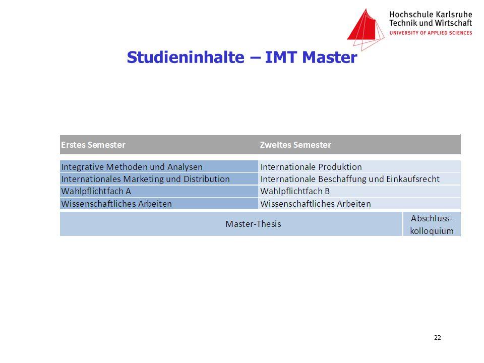 Studieninhalte – IMT Master