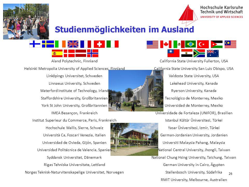 Studienmöglichkeiten im Ausland