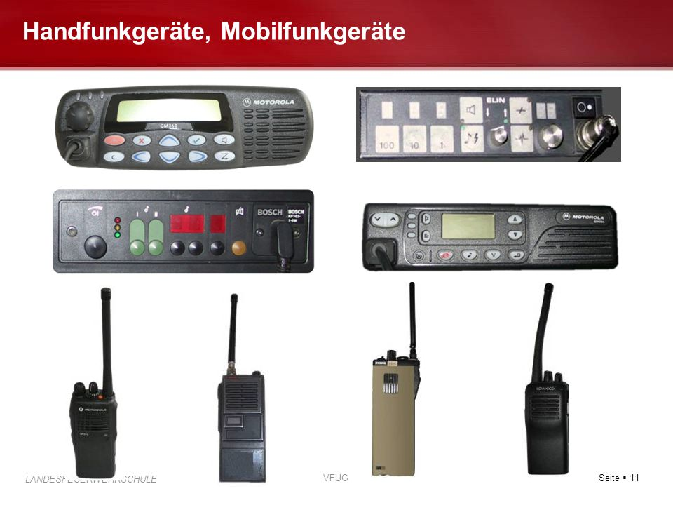 Handfunkgeräte, Mobilfunkgeräte