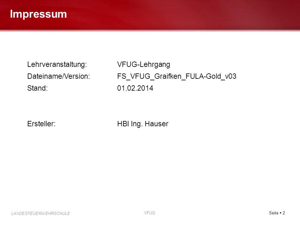 Impressum Lehrveranstaltung: VFUG-Lehrgang