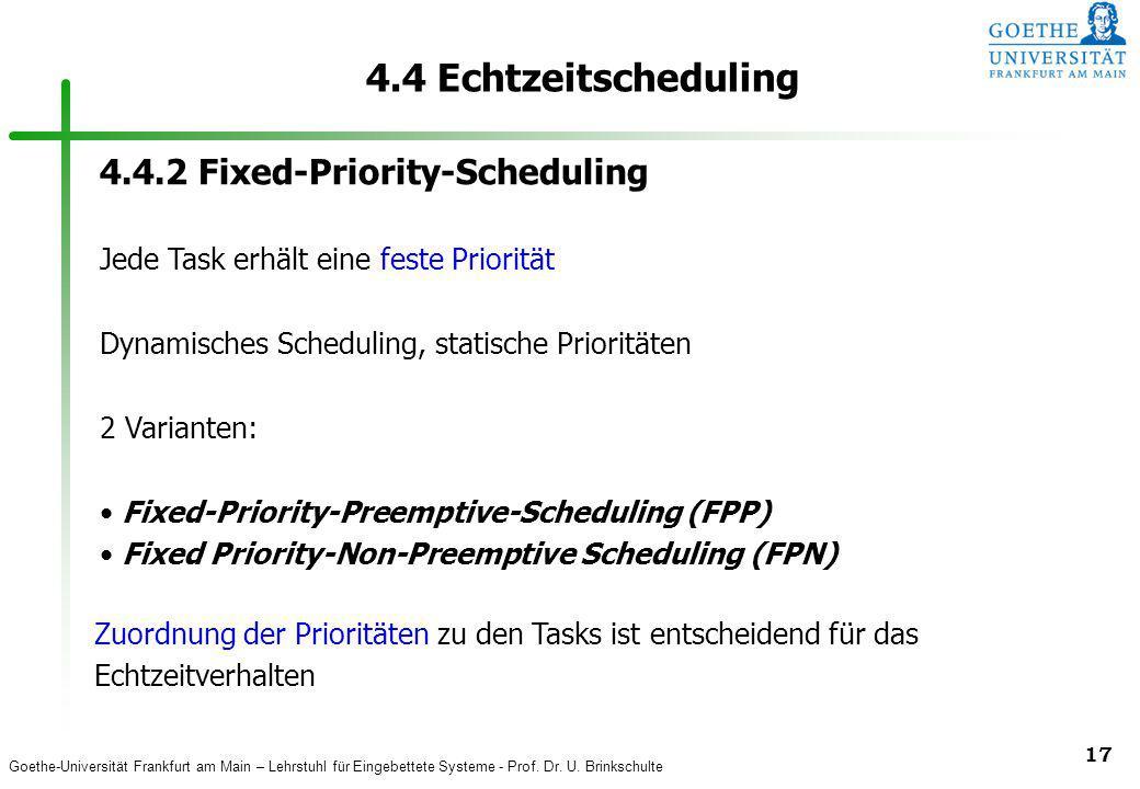 4.4 Echtzeitscheduling 4.4.2 Fixed-Priority-Scheduling