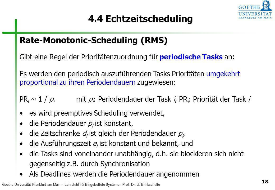 4.4 Echtzeitscheduling Rate-Monotonic-Scheduling (RMS)