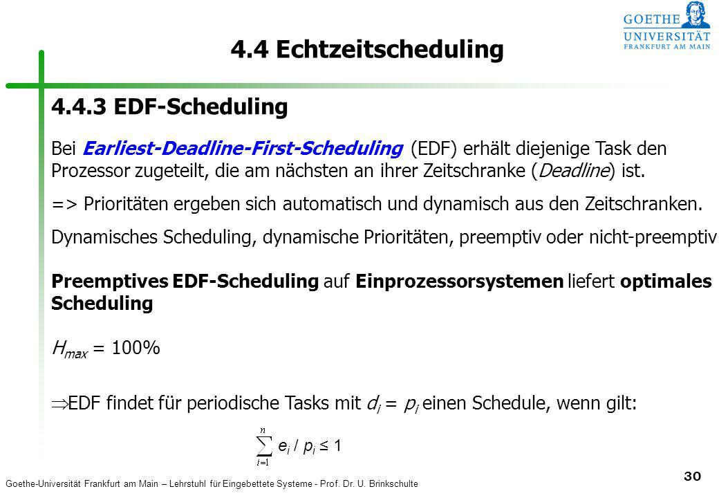 4.4 Echtzeitscheduling 4.4.3 EDF-Scheduling