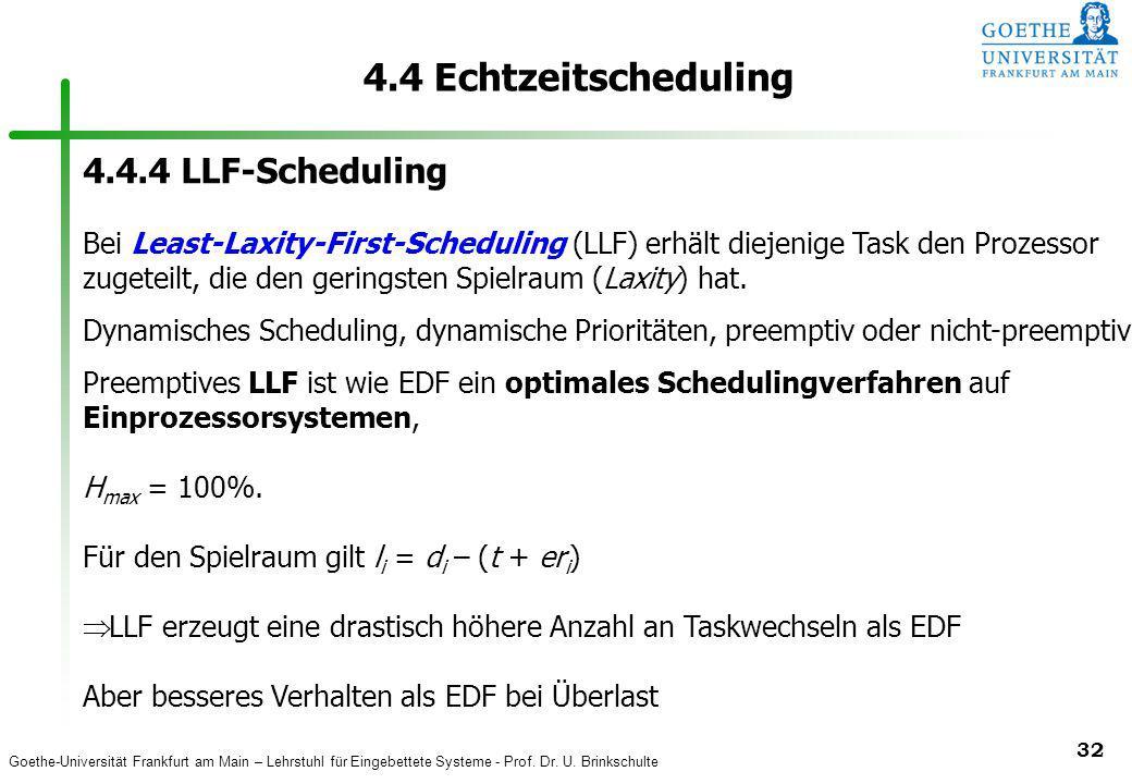 4.4 Echtzeitscheduling 4.4.4 LLF-Scheduling
