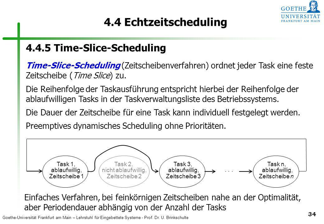 4.4 Echtzeitscheduling 4.4.5 Time-Slice-Scheduling
