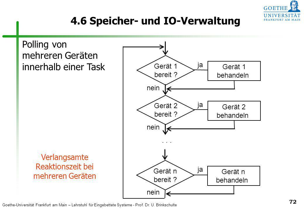 4.6 Speicher- und IO-Verwaltung