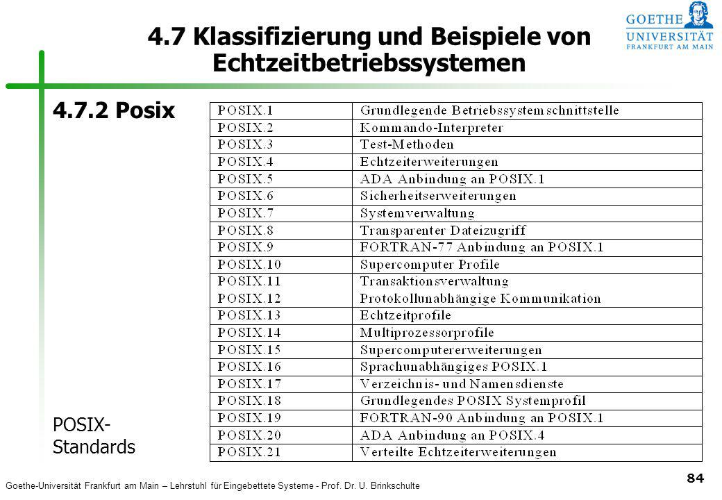 4.7 Klassifizierung und Beispiele von Echtzeitbetriebssystemen