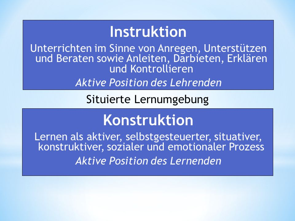 Instruktion Konstruktion