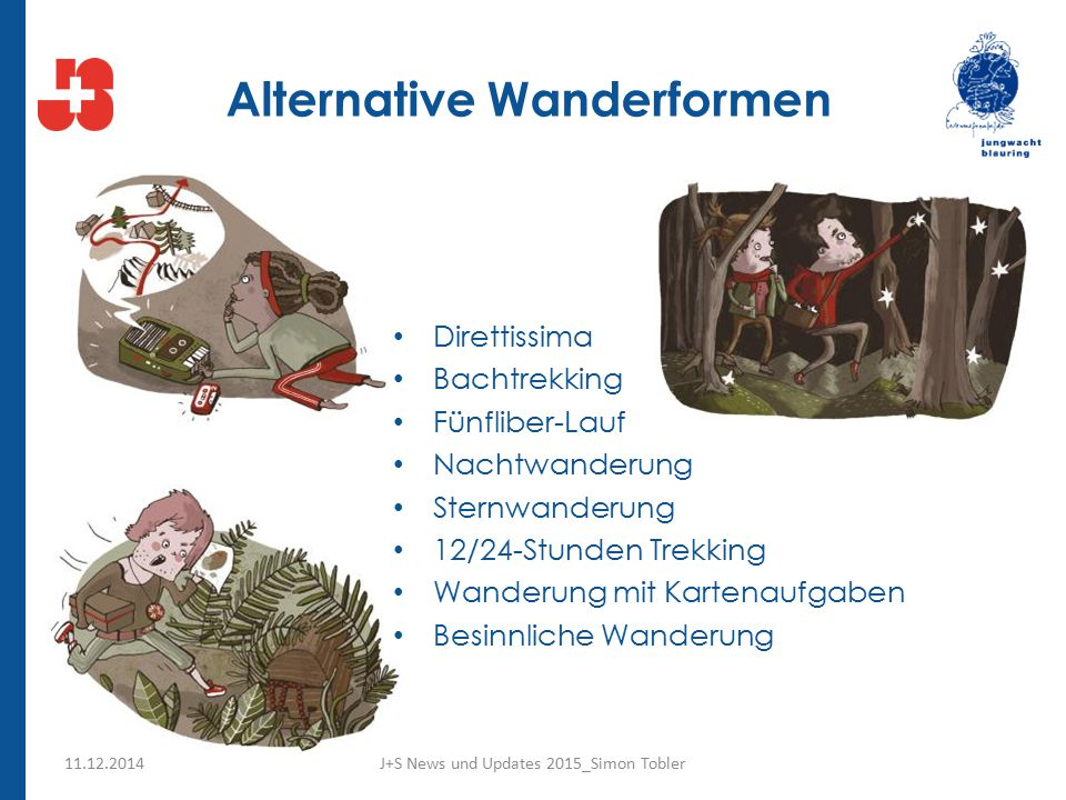Alternative Wanderformen