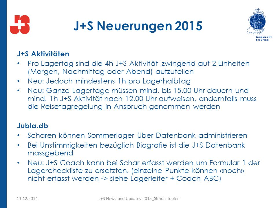 J+S News und Updates 2015_Simon Tobler