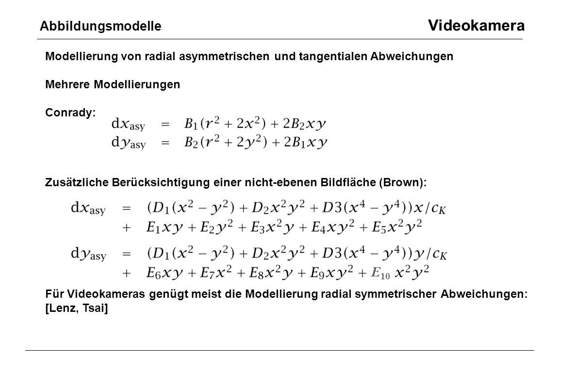 Abbildungsmodelle Videokamera