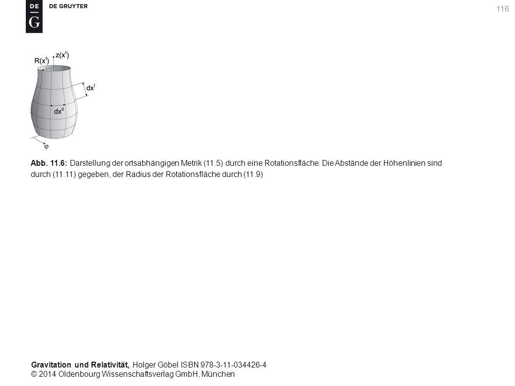 Abb. 11. 6: Darstellung der ortsabhängigen Metrik (11