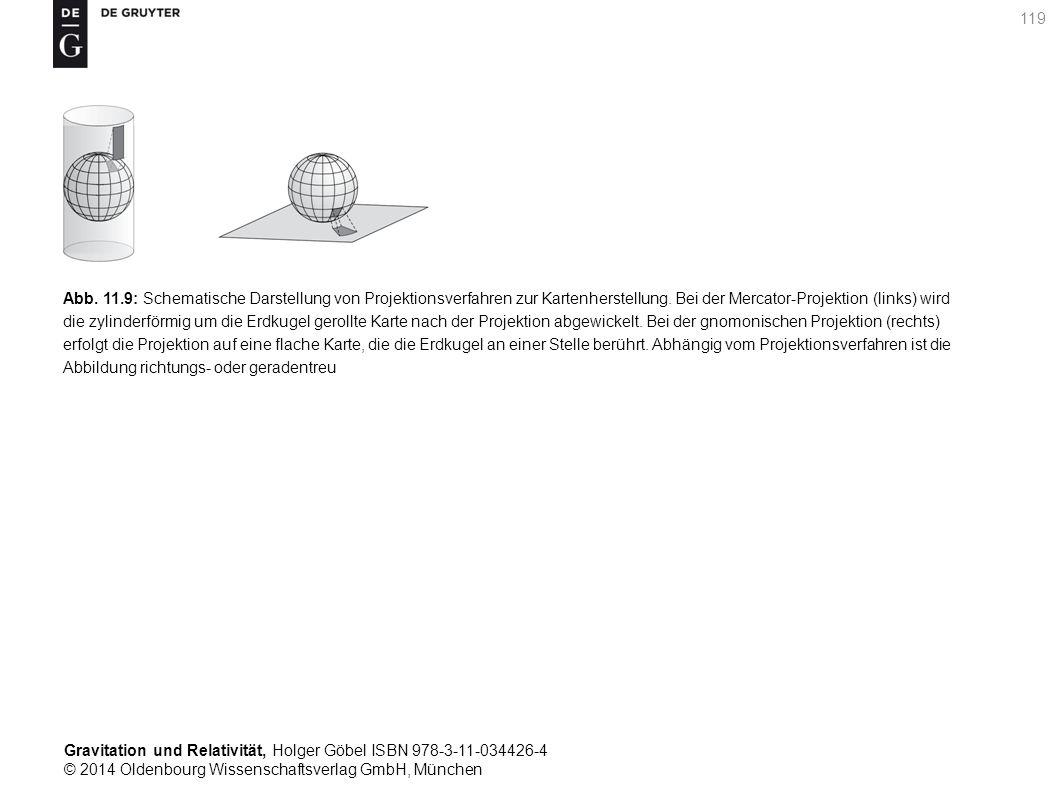 Abb. 11.9: Schematische Darstellung von Projektionsverfahren zur Kartenherstellung.
