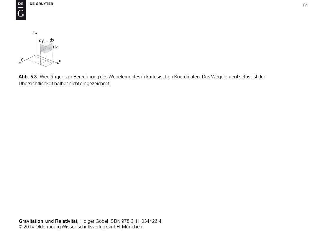 Abb. 5.3: Weglängen zur Berechnung des Wegelementes in kartesischen Koordinaten.
