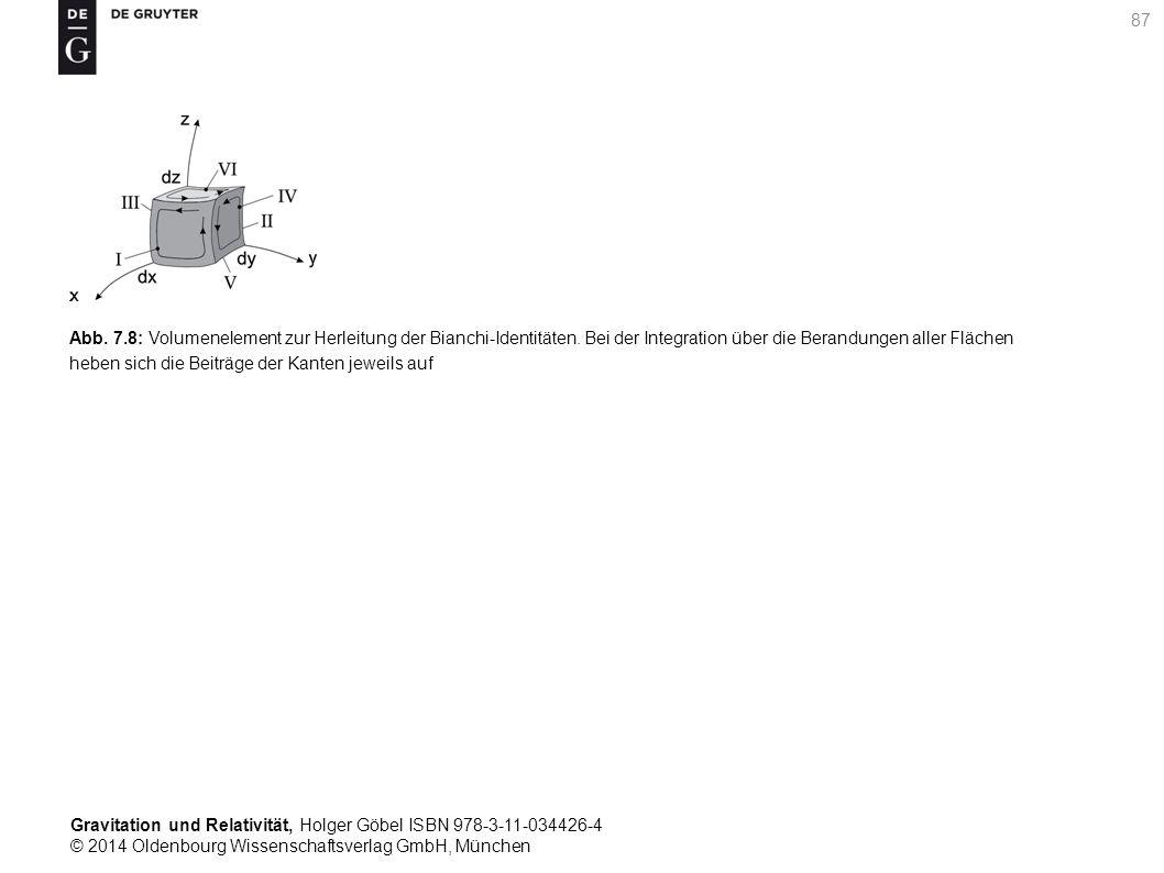 Abb. 7. 8: Volumenelement zur Herleitung der Bianchi-Identitäten