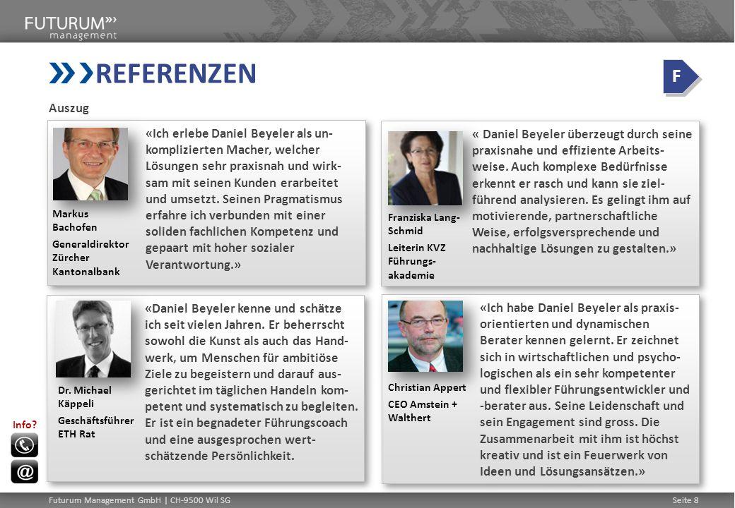REFERENZEN F. Auszug.