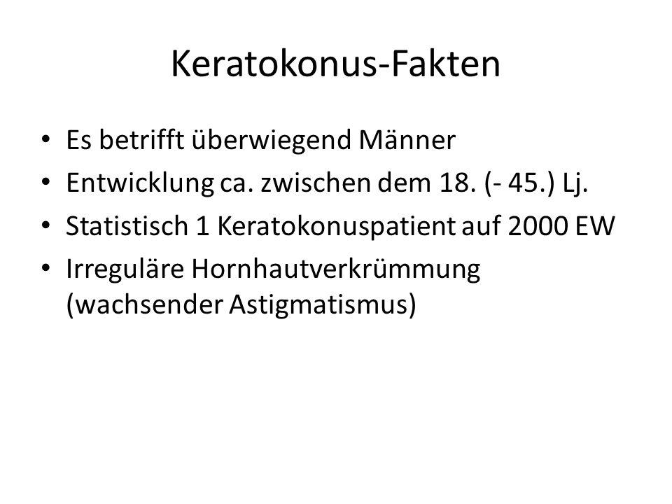 Keratokonus-Fakten Es betrifft überwiegend Männer