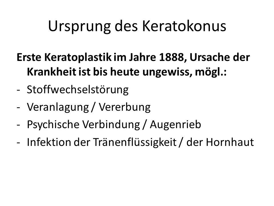 Ursprung des Keratokonus
