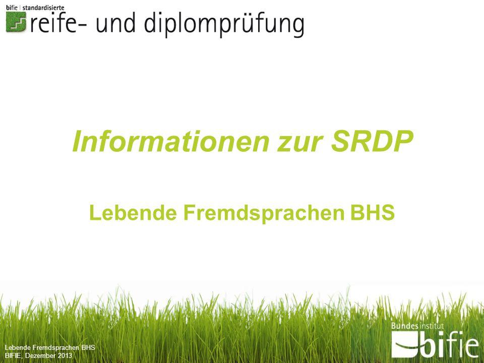 Informationen zur SRDP