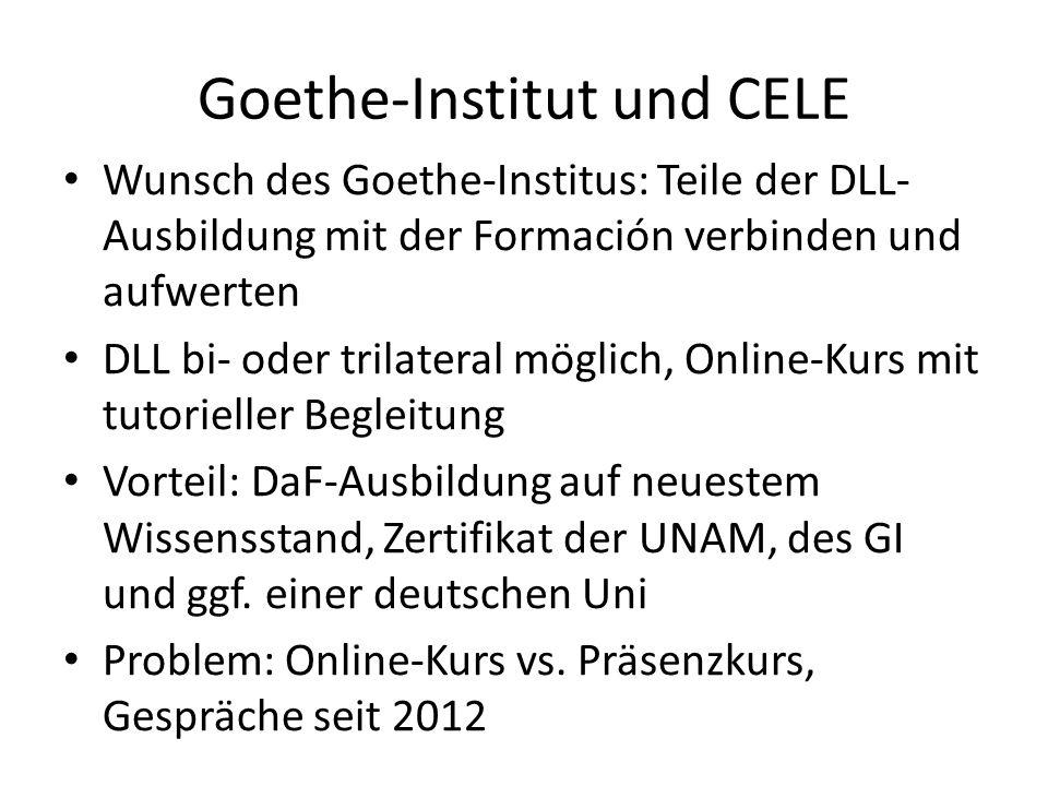 Goethe-Institut und CELE