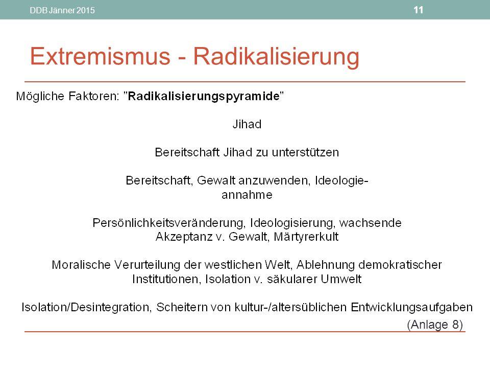 Extremismus - Radikalisierung