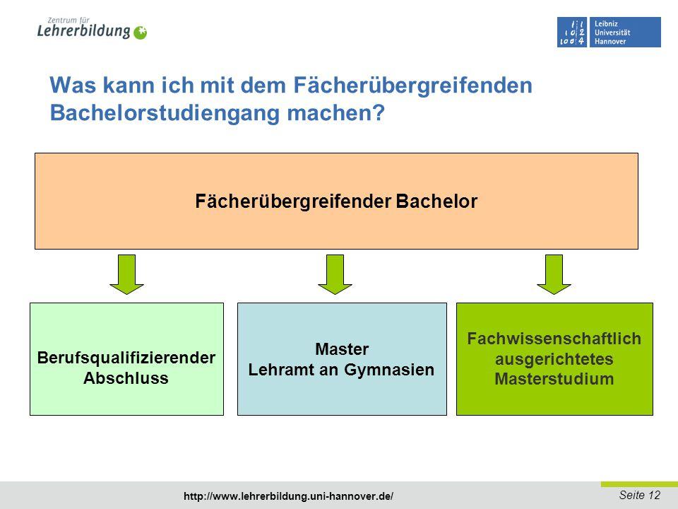 Was kann ich mit dem Fächerübergreifenden Bachelorstudiengang machen