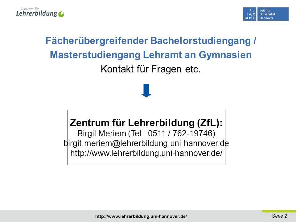 Fächerübergreifender Bachelorstudiengang /
