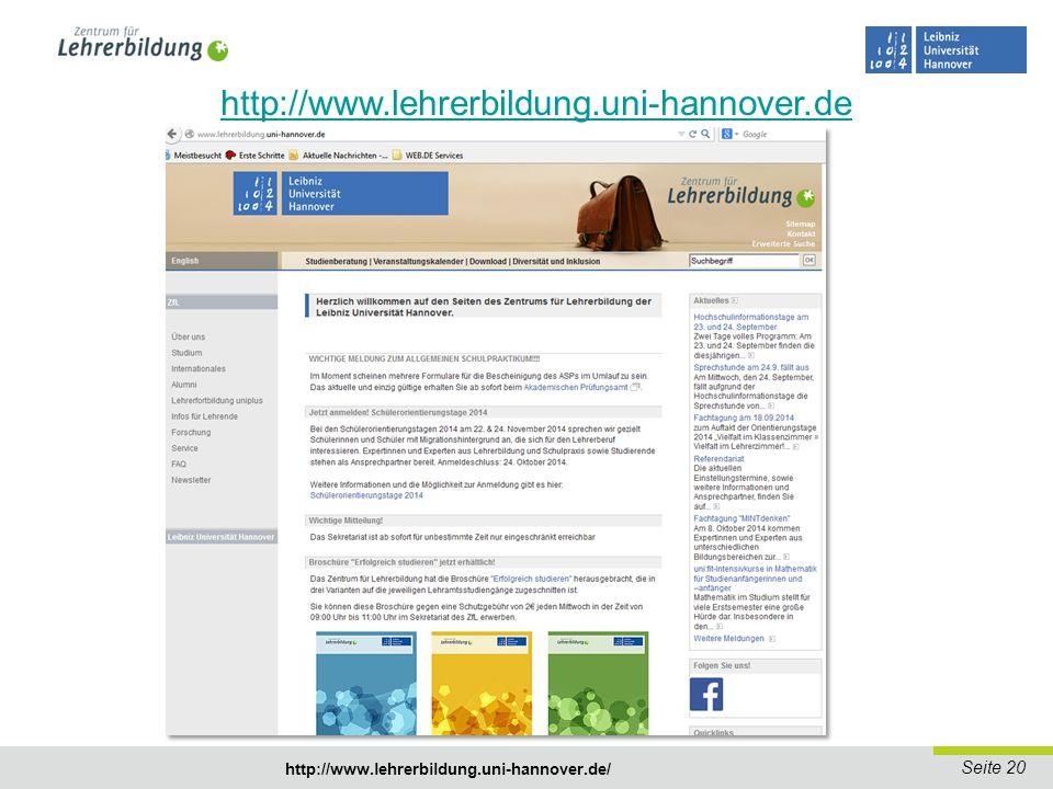 http://www.lehrerbildung.uni-hannover.de http://www.lehrerbildung.uni-hannover.de/