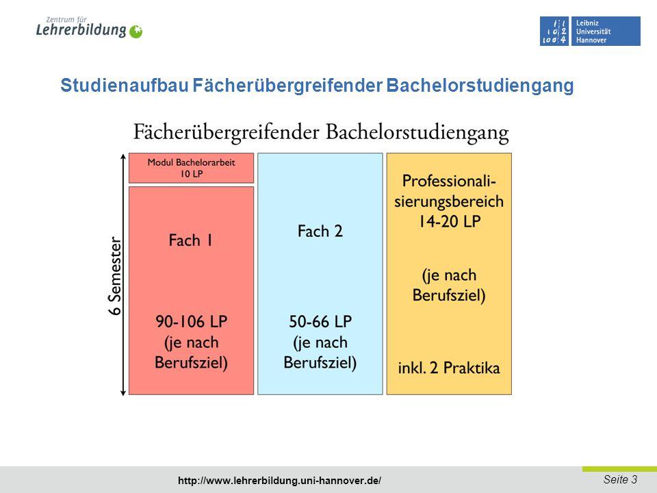 Studienaufbau Fächerübergreifender Bachelorstudiengang