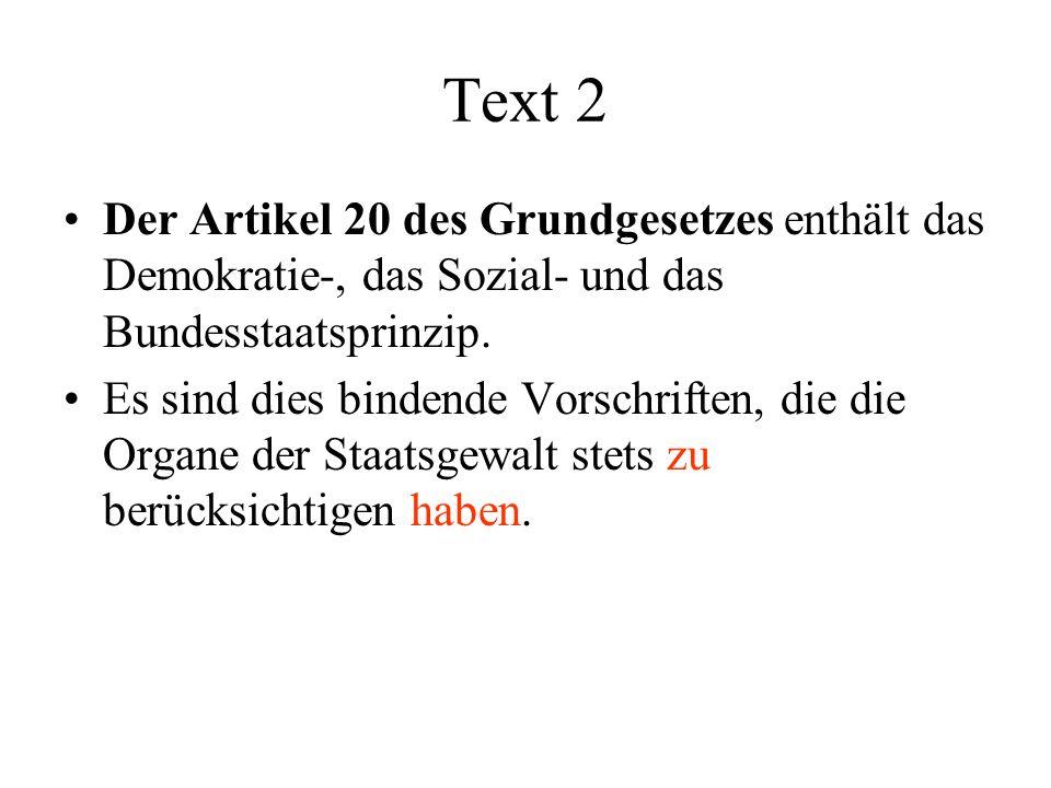 text des grundgesetzes