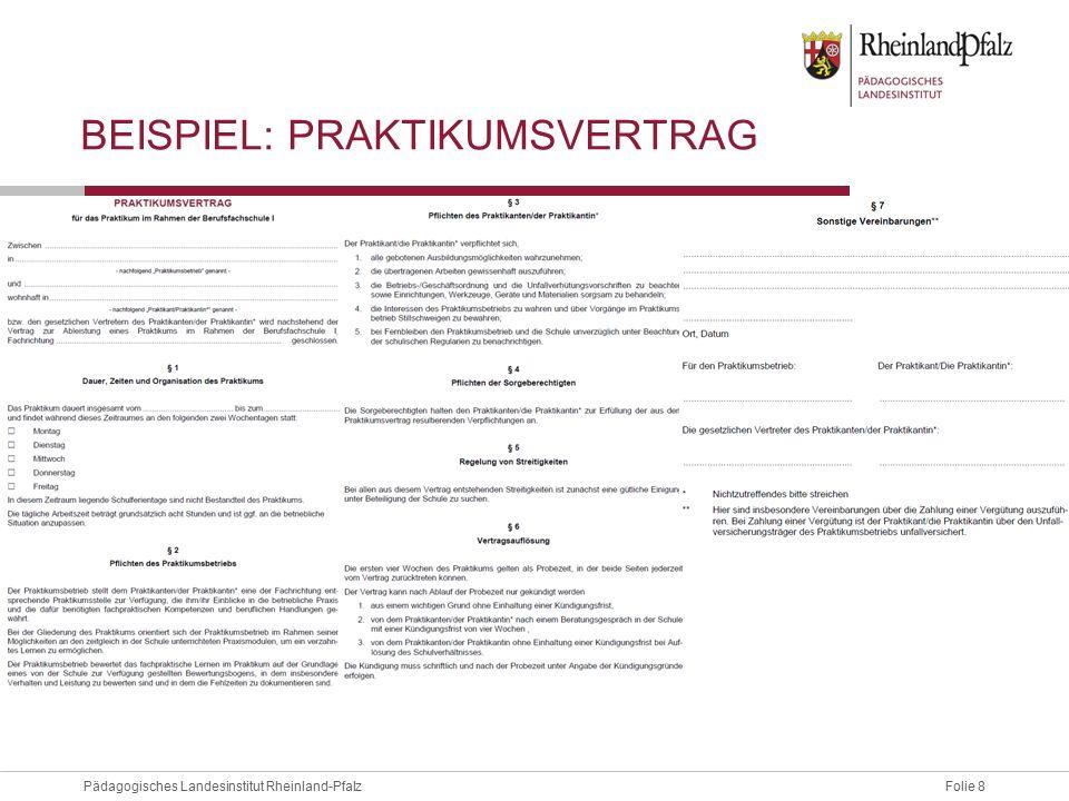Beispiel: Praktikumsvertrag