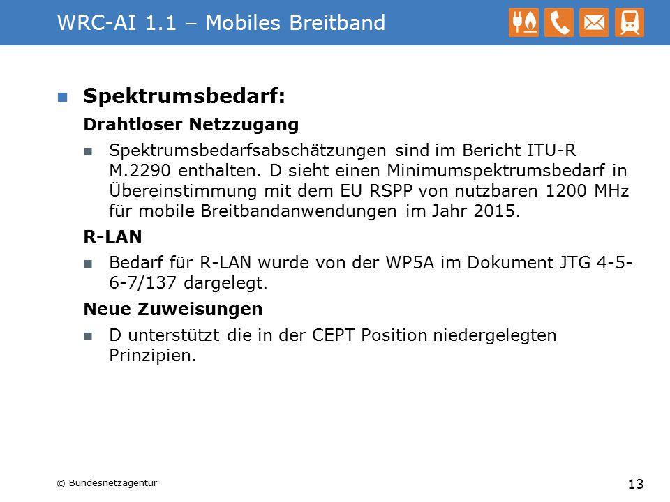 WRC-AI 1.1 – Mobiles Breitband