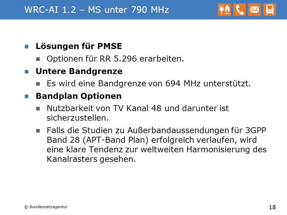 WRC-AI 1.2 – MS unter 790 MHz Lösungen für PMSE