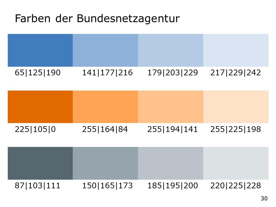 Farben der Bundesnetzagentur