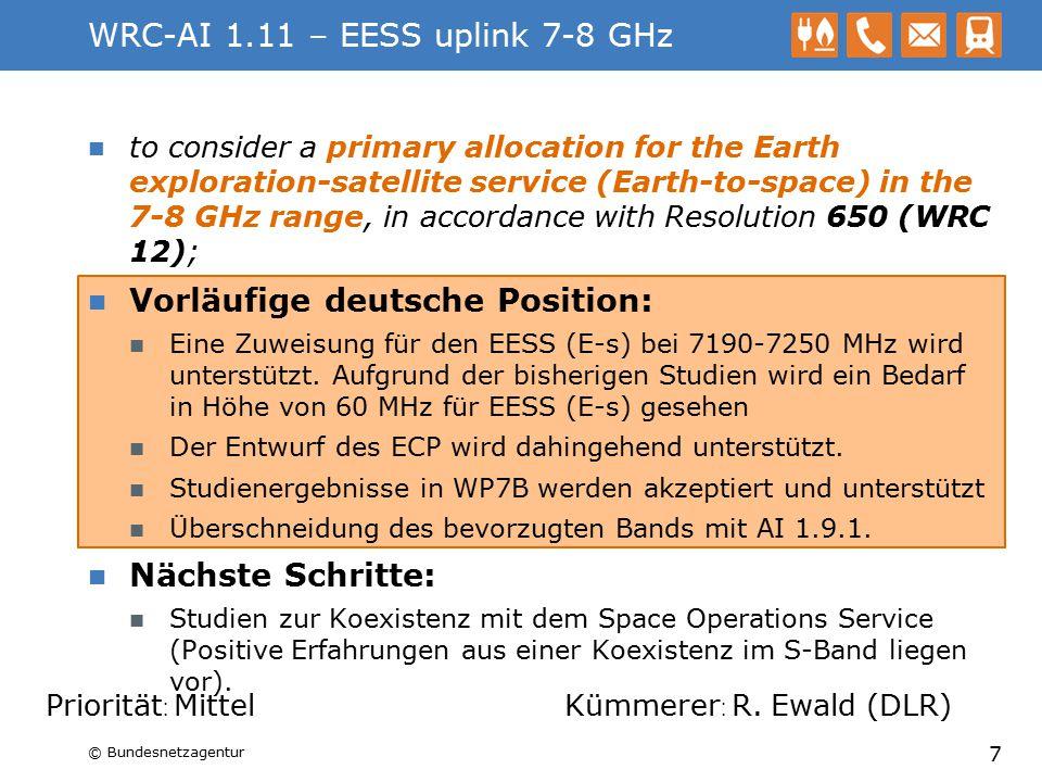 WRC-AI 1.11 – EESS uplink 7-8 GHz